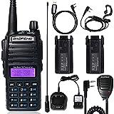 BaoFeng UV-82 BaoFeng Radio Dual Band Radio Ham Radio 144-148/420-450Mhz Portable 2 Way Radio with Extra 2800mAh Battery Full Kits(1 Pack-Black)