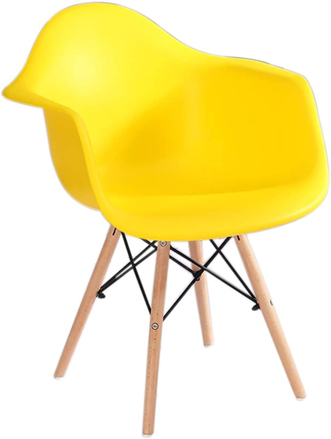 Chair - Nordic Dinette Office Chair Armchair Home Small Chair Decorating Furniture Comfortable and Durable (color   Yelloe)