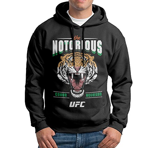 Conor McGregor UFC Celtic Tiger Mens Cotton Hooded Sweatshirt Black