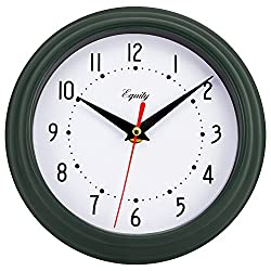 Equity by La Crosse 25019 8 Inch Hunter Green Analog Quartz Wall Clock