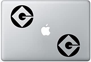 Despicable Me Gru Logo ArcDecals78600416 Set Of Two (2x) , Decal , Sticker , Laptop , Ipad , Car , Truck