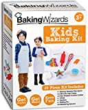 Deluxe Kids Baking & Cooking Set With Apron, Children's Cook Book And Real Kitchen Utensils - Suitable For Boys & Girls Age 3 to 10 - Ideal Christmas or Birthday Gift