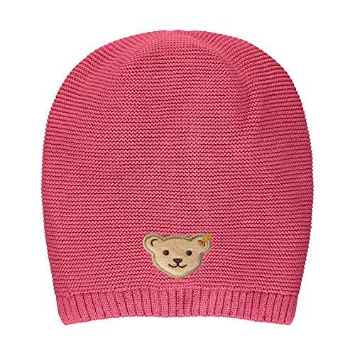 Steiff Mädchen mit süßer Teddybärapplikation Mütze, Carmine, 051