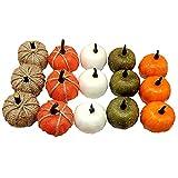 NOONE Mini calabaza artificial vegetal cosecha calabazas pequeñas Halloween para comedor simulación decoración del hogar adornos