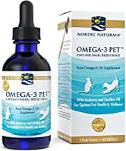 Nordic Naturals Omega 3 Pet – Fish Oil Liquid For Cats and Small Dogs, Omega-3s,EPA..