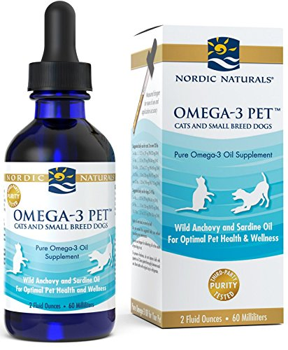 Nordic Naturals Omega 3 Pet - Fish Oil Liquid For Cats and Small Dogs,...