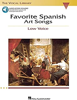 Favorite Spanish Art Songs: The Vocal Library Low Voice (Vocal Collection)