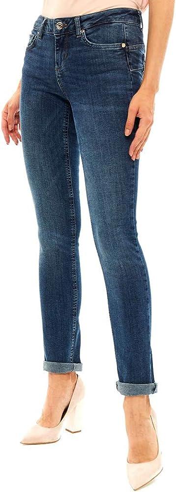 Liu jo jeans,jeans bottom up vestibilita` slim, vita regolare per donna, U69016D4127