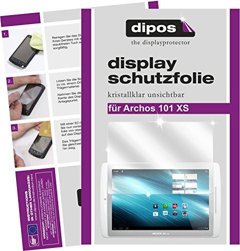 2 x Dipos Crystalclear Protector de pantalla compatible con Archos 101xs e Archos 101xs 2