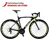 SAVADECK Herd 6.0 700C Bici da Strada T800 Fibra di Carbonio con 22 velocità Shimano 105 ...