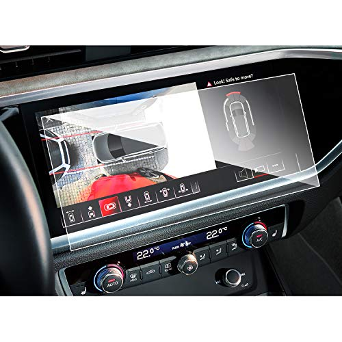 SHAOHAO Protector de pantalla para AUD i Q3 F3 de 8,8 pulgadas GPS transparente, resistente a los arañazos 9H antihuellas