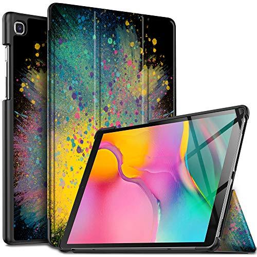 IVSO Hülle für Samsung Galaxy Tab A 10.1 2019 T515/T510, Ultra Schlank Slim Schutzhülle Hochwertiges PU mit Standfunktion Ideal Geeignet für Samsung Galaxy Tab A 2019 T515/T510 10.1 Zoll, CH-52