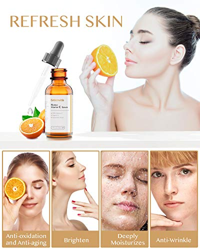51cC SMnryL - 30% Vitamin C Serum for Face and Skin, Anti-Aging Anti-Wrinkle Natural Face Serum with Hyaluronic Acid, Vitamin E- Fades Age Spots, Brighten Skin Tone, 1 fl oz
