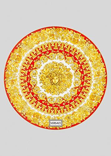 Versace . Medusa 403671 Rhapsody Red - Plato (33 cm), color rojo
