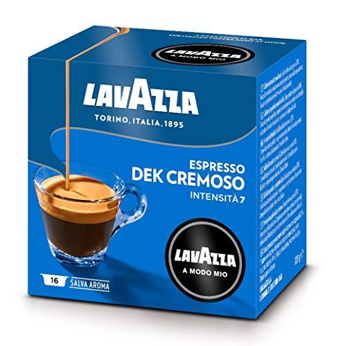 Lavazza A Modo Mio Espresso Dek Cremoso 16 Cápsulas de Cafetera (Paquete de 4)