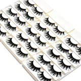 Wleec Beauty Dramatic Eyelashes Set Long Strip Lashes Handmade False Eyelash Pack #27/L (15 Pairs/3 Pack)