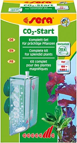 sera 08039 CO2-Start für den Einstieg in die CO2-Düngung - CO2 Anlage mit CO2 Tabletten - fürs Aquarium von 60 bis 120 Liter