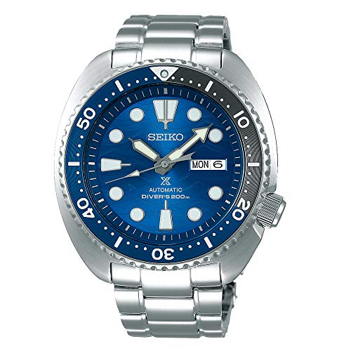 SEIKO Prospex'Turtle' Save The Ocean Diver's 200M Automatic Blue Dial Steel Watch SRPD21K1
