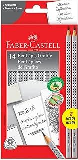 Lápis Grafite Nº 2B Triangular, Faber-Castell, EcoLápis Grip 2001B, 2001B/F, 14 Unidades