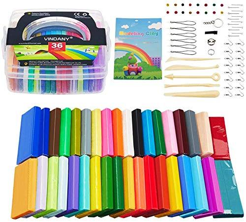 Vindany 36 Colores Arcilla polimérica Modelado de Arcilla K