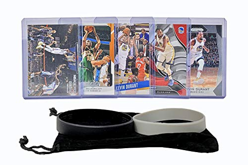 Kevin Durant (5) Assorted Golden State Warriors Thunder Basketball Cards NBA Trading Card Brooklyn Nets Gift Bundle - # 35