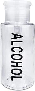 Pana Push Down Alcohol Pump Dispenser- Clear Bottle- Labeled - 7 Oz Bottle