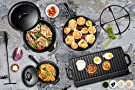 Bruntmor Pre-Seasoned 7 Piece Heavy Duty Cast Iron Dutch Oven Camping Cooking Set with Vintage Carrying Storage Box #3
