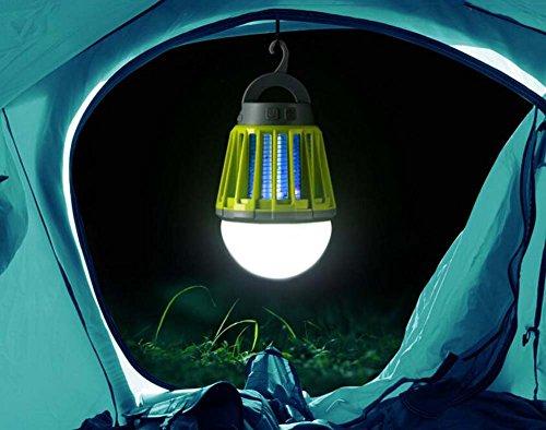 Wasbare led-muggenlamp, multifunctionele ledlamp, voor buiten, mobiele muggeninsectenverdelger, fly swatter camping tent, USB, waterdicht, dimbare lamp. groen