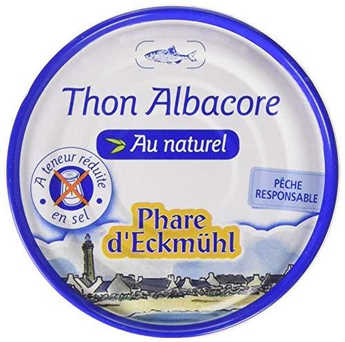 Phare d'Eckmül - Thon Albacore au Naturel Pêche Responsable 112 g - Lot de 7