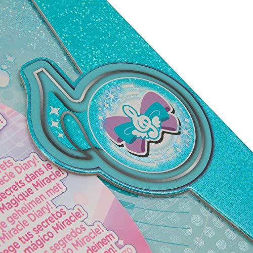 Giochi Preziosi Italy - Miracle Tunes Diario Segreto Copertina con Magnete ed Effetto Glitter, Azzurro