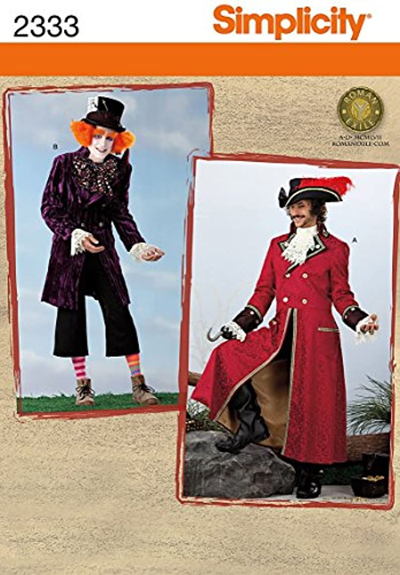 Simplicity Sewing Pattern 2333 Men's Costumes Size AA (XS-S-M)