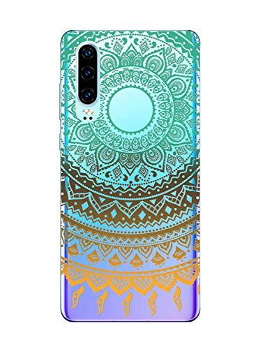 Suhctup Moda Coque Compatible pour Huawei Honor 9i/Honor 9N,Transparent Silicone TPU Souple Étui avec [Motif Fleur] Crystal Ultra Fine Shock-Absorption Antichoc Protection Housse Cover Case(Lacet 7)