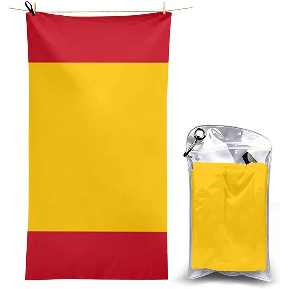W-wishes Toallas de Playa Toallas de Mano Sábanas Bandera de España Cubiertas para Mantas de baño Trajes de baño de Secado rápido Toallas: Amazon.es: Hogar