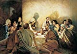 wjwei Jesucristo del Antiguo Testamento Pinturas sobre Lienzo En La Pared Láminas Artísticas La Última Cena De Jesús Cuadros De La Pared Decoración del Hogar 70X100Cm Sin Marco Pm181