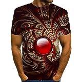 Nuevo Camiseta de los 3D Hombres Verano Redondo Cuello 3D Fuego Impreso Camiseta Corto Manga Camisa Parte...