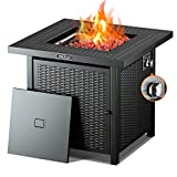 TACKLIFE Propane Fire Pit,Outdoor Companion,28 Inch 50,000 BTU Auto-Ignition Gas Fire Pit Table with...