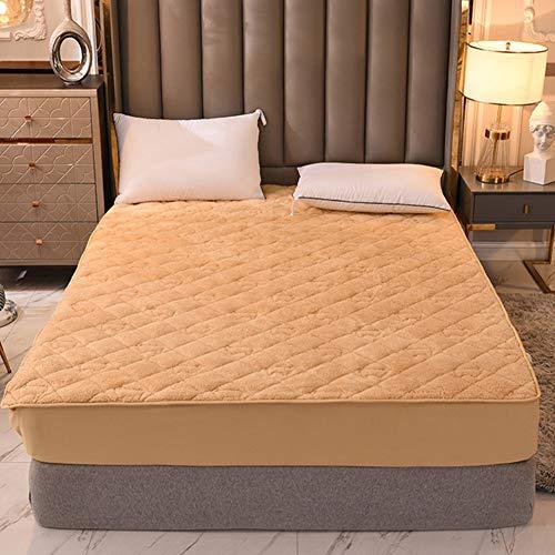 LYXQQ - Sábanas de terciopelo de invierno para invierno, sin fundas de almohada térmicas, cálidas y acogedoras, 150 x 200 cm, color beige