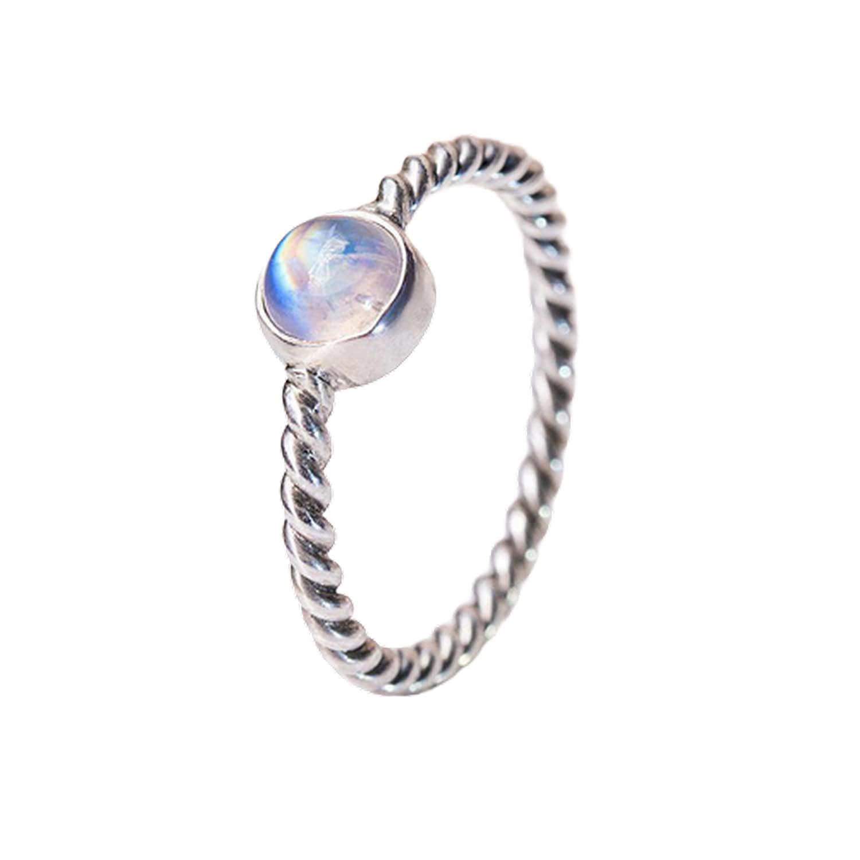 Blue Ranking TOP9 Denver Mall Fire Rainbow Moonstone Ring Silver Spiritu 925 Solid
