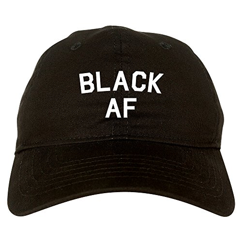 Kings Of NY Black AF Mens Dad Hat Baseball Cap Black