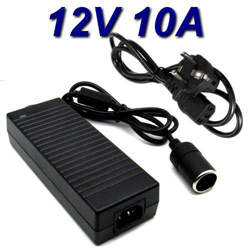 Top Chargeur® voedingsadapter, oplader op de auto, sigarettenaansteker, 12 V, 10 A, voor compressor Coido JOCCA model 8530