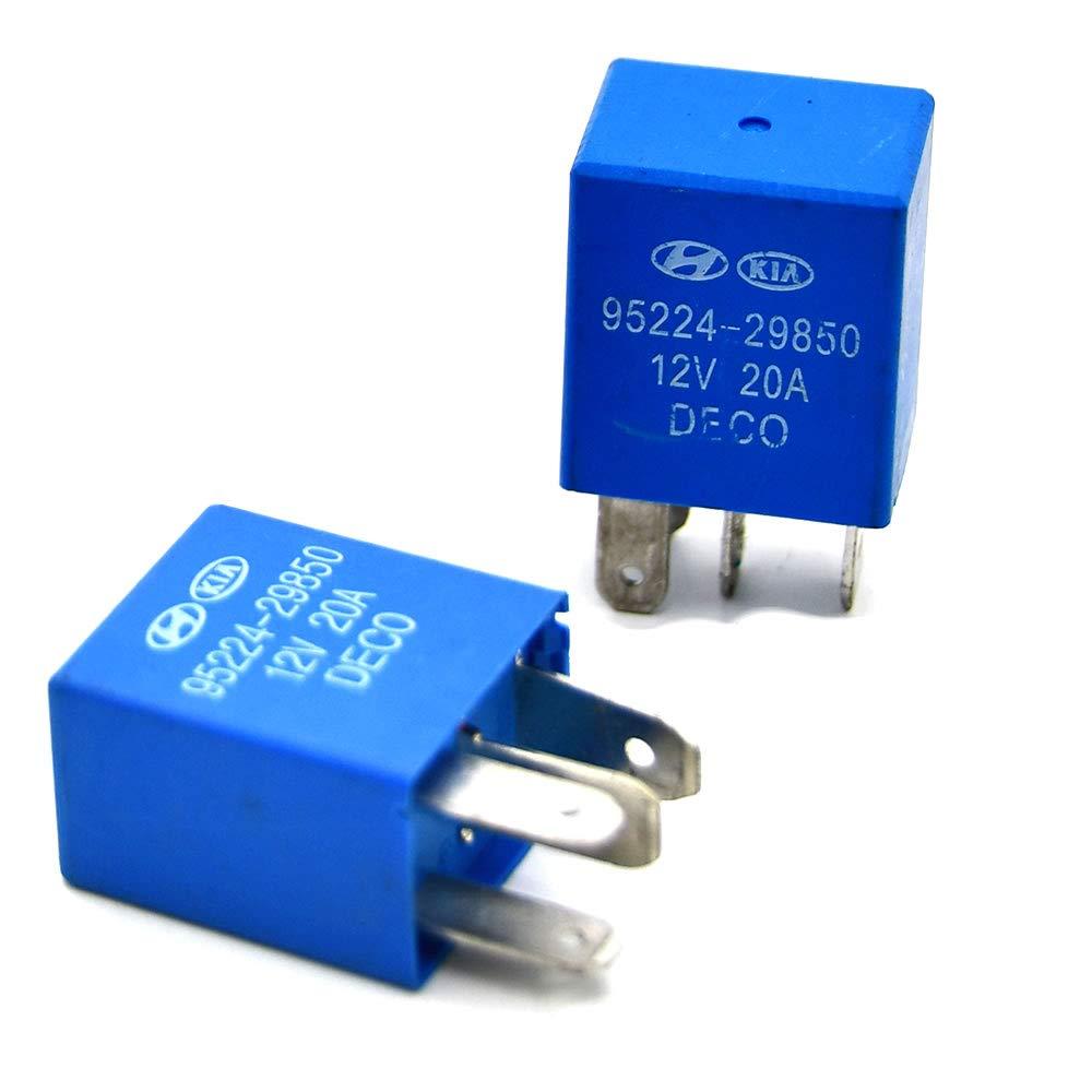 2 Ranking TOP18 Pack OEM 95224-29850 Automotive Power Regular discount Multi-Purpose Relay Comp