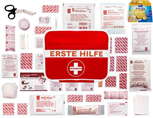 Erste Hilfe Tasche'BERGMANN' + Extra Pflasterbox【125 teilige Deutschsprachiger...