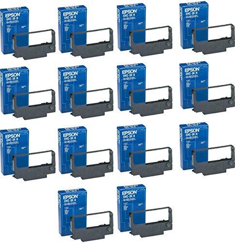 Genuine Epson (erc-38b) 14-pack cartuccia d' inchiostro nero per tm-u200a tm-u200d, tm-300a, tm-u200b, tm-300C, tm-300d, tm-u370, it-u375, tm-u200a, tm-u200b, it-u375