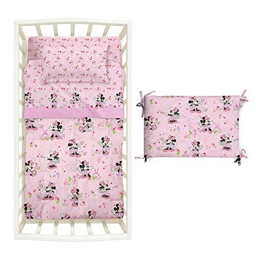 Caleffi Couette avec tour de lit baby––Fairy- couette 130x 110Tour 180X43