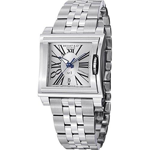 Bedat orologio da donna con cinturino e cassa in acciaio da 34mm...
