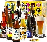 Le coffret cadeau bières du monde reprend 11 bières du monde qui sauront vous faire voyager, ainsi que son verre à bière pour les déguster. Vous aurez également un beeronote pour noter vos dégustations, deux sous-bocks et un décapsuleur, pour une exé...