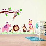 Walplus AY869 - Adesivi da parete/decorazione murale per la cameretta dei bambini, motivo ...