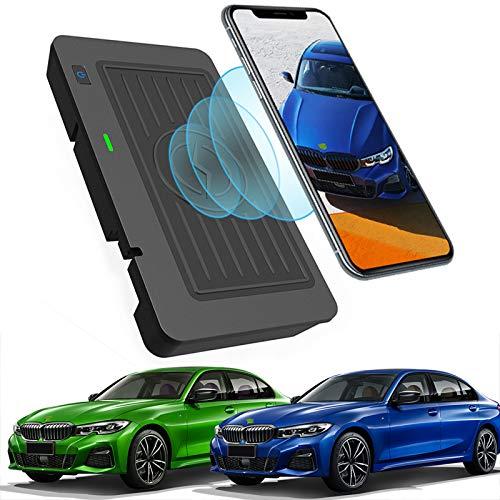Cargador de coche inalámbrico para BMW 3 Series 320i, 320Li, 325i, 325Li, 325Li xDrive, 330i, 330Li xDrive, cargador de teléfono de carga rápida de 10 W para iPhone 12 Pro MAX Mini 11, Galaxy S20