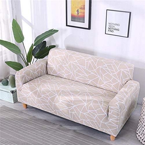 GFFGA Spandex Couch Cover Elastic Tight Wrap All-inclusive Sofa Cover for Living Room Sectional Furniture Slipcover 1/2/3/4 seater,Color 11,2-Seat 145-185cm