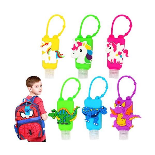 6pcs children's liquid soap container portable empty bottle hand sanitizer...